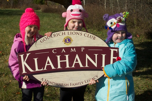 Camp Klahanie is 40 years old in 2013 and has been given a new lease on life thanks to the efforts of the Goderich Lions Club. It will, however, remain true to it's roots, acknowledging that it was first given to local Guiding for $1 by the Hindmarsh family.
